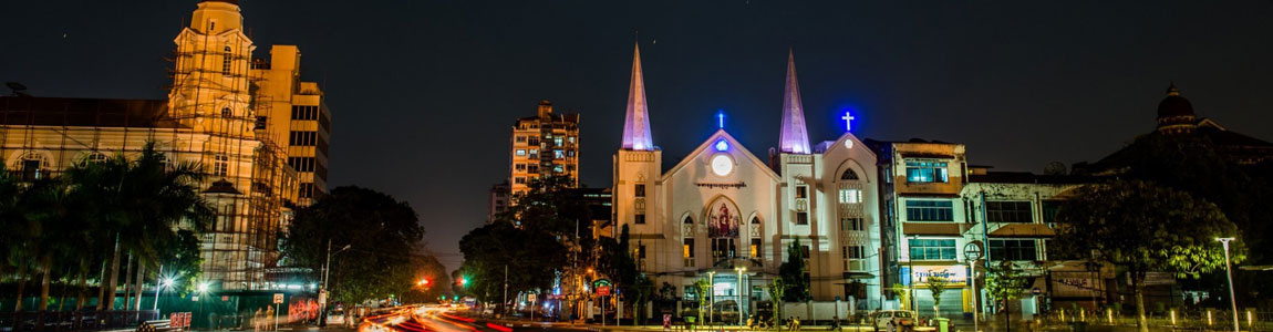 Yangon Night Veiw Photo